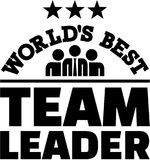 World's best Team Leader. Vector Royalty Free Stock Photography