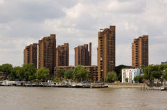 World's End Estate, Chelsea, London. View from Battersea Bridge of the tower blocks of the World's End Estate in Chelsea, London Stock Photography