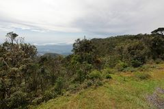 World`s End in the Horton Plains National Park in Sri Lanka. The World`s End in the Horton Plains National Park in Sri Lanka Royalty Free Stock Photos