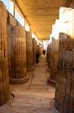 The World's First Stone Columns. This is a picture of the world's oldest stone columns and can be seen at the funerary complex of Djoser (Zoser). They were Stock Photo