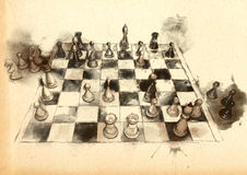 The World's Great Chess Games: Anderssen - Dufrusne Royalty Free Stock Photos