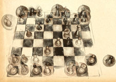 The World's Great Chess Games: Anderssen - Kieseritzky Royalty Free Stock Photo
