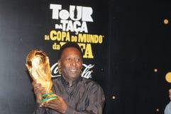 The world`s greatest footballer Pelé. Rio de Janeiro - Brazil May 25, 2014, the world`s greatest footballer Pelé, speaks to the press about the importance royalty free stock photos