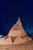 World's lagest sandcastle Stock Photos