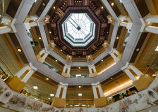 World's largest ceiling clock. In the rotunda of the Lexington Public Central Library in Lexington, Kentucky stock image