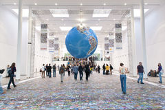 The world's largest photo globe at Photokina 2012 Royalty Free Stock Photography