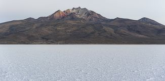 The world`s largest salt flat, Salar de Uyuni in Bolivia, photographed at sunrise Stock Photography