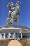 The world's largest statue of Chinghis Khan. Tsonjin Boldog, Mongolia - May, 06 2016: 40-meters tall statue of Genghis Khan on horseback. Statue Complex Stock Image