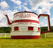 The World`s Largest Teapot Chester West Virginia. The World`s largest teapot is a free roadside attraction and is located in Chester, West Virginia Royalty Free Stock Photography