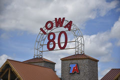 World's Largest truck stop sign Stock Photo