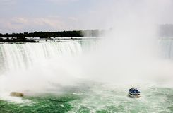 Worlds Largest Waterfall. The Horse Shoe Waterfall of Niagara Falls in Canada is the worlds largest waterfall Stock Image