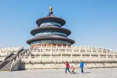 world's most famous  ancient architecture of the temple of heaven in Beijing, China Royalty Free Stock Images
