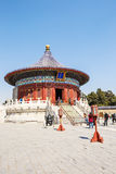 World's most famous ancient architecture of the temple of heaven in Beijing, China royalty free stock photography