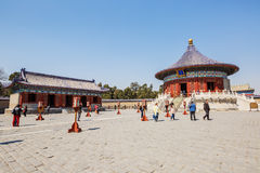 World's most famous ancient architecture of the temple of heaven in Beijing, China stock image