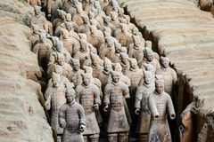 The world's most famous statue of the Terra Cotta Warriors,in Xi 'an, China Stock Image