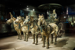 the world's most famous Terra Cotta Warriors Bronze chariot,in Xi 'an, China Stock Photos