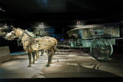 the world's most famous Terra Cotta Warriors Bronze chariot,in Xi 'an, China Stock Image