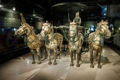 the world's most famous Terra Cotta Warriors Bronze chariot,in Xi 'an, China Stock Images