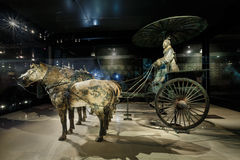 The world's most famous Terra Cotta Warriors Bronze chariot,in Xi 'an, China Royalty Free Stock Image