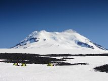 The world's northernmost active volcano Beerenberg. Jan Mayen, Arctic Royalty Free Stock Images