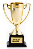 World's number 1 trophy Stock Photos