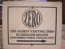 The world's oldest existing zero in world Royalty Free Stock Photos