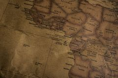 The world`s original color map, when Mercator was screened in ab royalty free stock photography