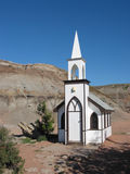 World's Smallest Church. The world's smallest church in Drumheller, Alberta stock photos