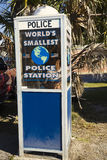World's smallest police station Royalty Free Stock Images