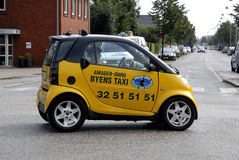 World's smallest taxi Stock Images