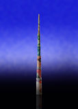 World's tallest tower made from uae dirham notes Royalty Free Stock Photography