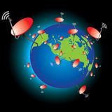 World Satellite dish. Finding the new world Stock Photos