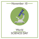 World Science Day. November 10 Stock Photos