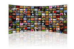 World in the screen Royalty Free Stock Image