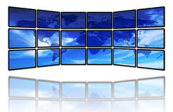 World and screens Stock Photo