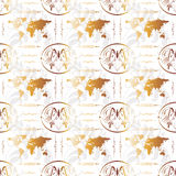 World Seamless Background. Can be used as textile, fabric or wrapping paper Royalty Free Stock Image