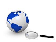World searching Royalty Free Stock Photos