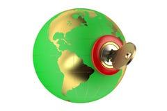 World security concept 3D Stock Photos