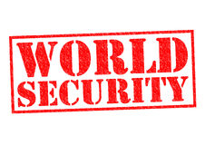 WORLD SECURITY. Red Rubber Stamp over a white background Royalty Free Stock Photo
