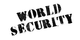 World Security rubber stamp. Grunge design with dust scratches. Effects can be easily removed for a clean, crisp look. Color is easily changed Royalty Free Stock Photo