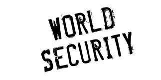 World Security rubber stamp. Grunge design with dust scratches. Effects can be easily removed for a clean, crisp look. Color is easily changed Stock Image