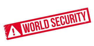 World Security rubber stamp. Grunge design with dust scratches. Effects can be easily removed for a clean, crisp look. Color is easily changed Royalty Free Stock Images