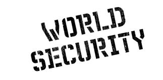 World Security rubber stamp. Grunge design with dust scratches. Effects can be easily removed for a clean, crisp look. Color is easily changed Stock Photo