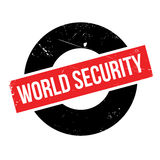 World Security rubber stamp. Grunge design with dust scratches. Effects can be easily removed for a clean, crisp look. Color is easily changed Royalty Free Stock Photos