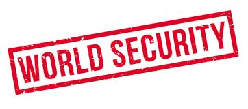 World Security rubber stamp. On white. Print, impress, overprint Royalty Free Stock Image