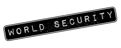 World Security rubber stamp. On white. Print, impress, overprint Stock Photography