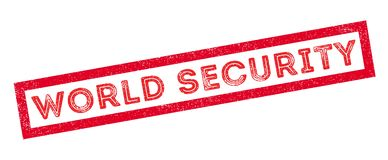 World Security rubber stamp. On white. Print, impress, overprint Stock Photo