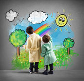 The world seen by children Royalty Free Stock Photography