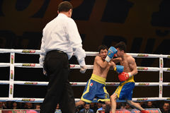 World series of boxing: Ukraine Otamans vs China Dragons Royalty Free Stock Photos