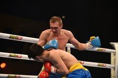 World series of boxing: Ukraine Otamans vs China Dragons Royalty Free Stock Photos